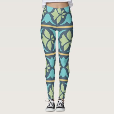 Aztec Themed sliced leggings | ripped leggings | cuff baby legg