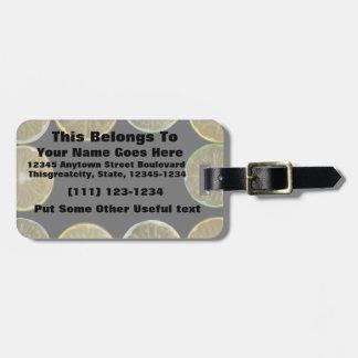 sliced lemon frame bag tag