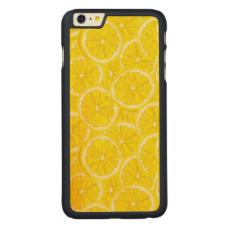 Sliced Lemon Pattern Carved® Maple iPhone 6 Plus Case