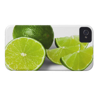 Sliced lime wedge, on white background, cut out iPhone 4 Case-Mate case