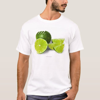 Sliced lime wedge, on white background, cut out T-Shirt