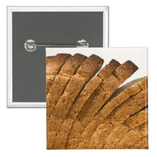 Sliced loaf of bread pinback button
