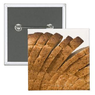 Sliced loaf of bread pinback button