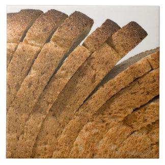 Sliced loaf of bread tile