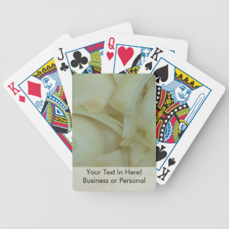 sliced onion vegtable food photo bicycle playing cards