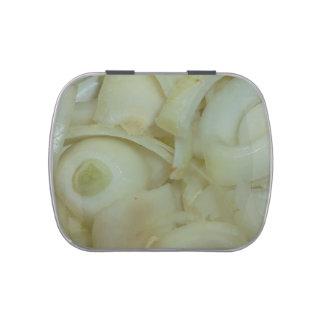 sliced onion vegtable food photo candy tin