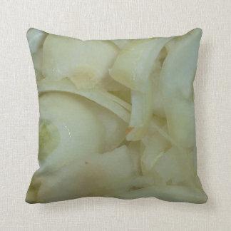 sliced onion vegtable food photo throw pillow