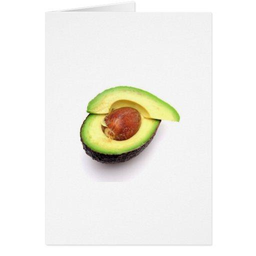 Sliced Open Avocado Greeting Card