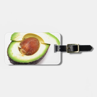 Sliced Open Avocado Travel Bag Tag