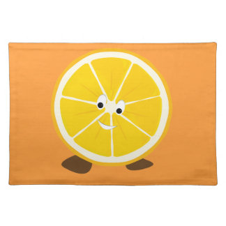 Sliced orange character placemat