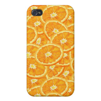 Sliced Orange Pattern iPhone 4/4S Cases