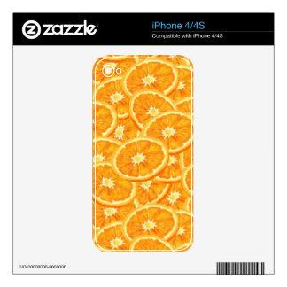 Sliced Orange Pattern iPhone 4 Decals