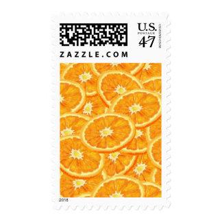 Sliced Orange Pattern Postage