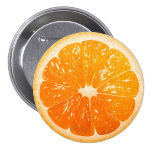 Sliced Orange Pinback Button