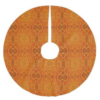 Sliced Oranges Brushed Polyester Tree Skirt