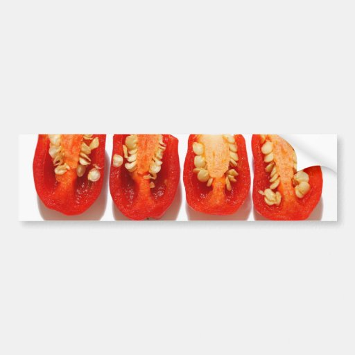 Sliced peppers bumper stickers
