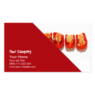 Sliced peppers business card