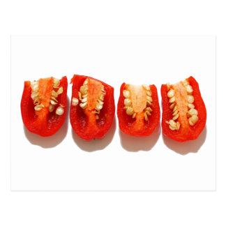 Sliced peppers postcard