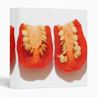 Sliced peppers vinyl binder