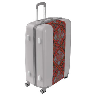 """Sliced pomegranat"" organic forms bohemian pattern Luggage"