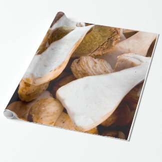 Sliced Porcini Mushrooms Wrapping Paper