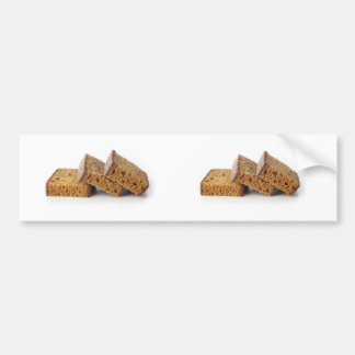 Slices of Breakfast Cake Bumper Sticker