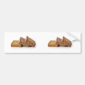 Slices of Breakfast Cake Bumper Sticker Car Bumper Sticker