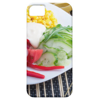 Slices of fresh raw vegetables iPhone SE/5/5s case