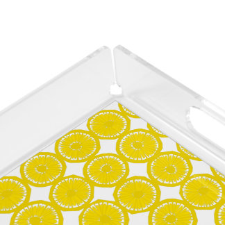 Slices of Lemons - Acrylic Serving Tray