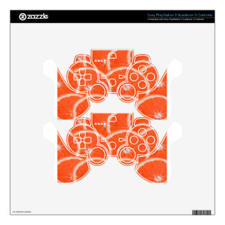 Slices of orange PS3 controller decal