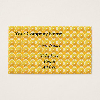 Slices of Oranges - Juice Theme Business Card
