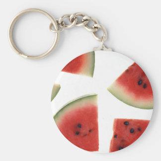Slices of Watermelon Basic Round Button Keychain