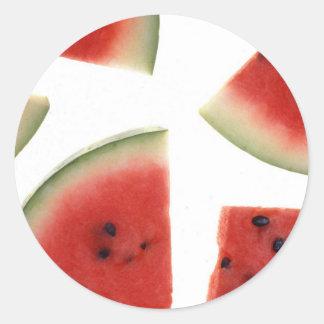 Slices of Watermelon Classic Round Sticker