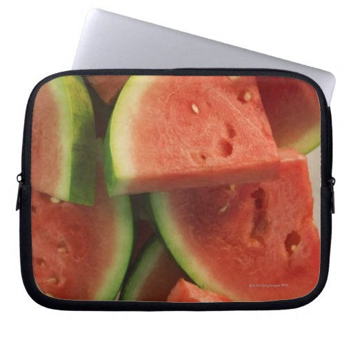 Slices of watermelon computer sleeves
