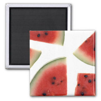 Slices of Watermelon 2 Inch Square Magnet