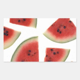 Slices of Watermelon Rectangular Sticker