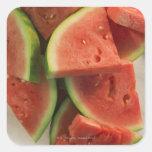 Slices of watermelon square sticker