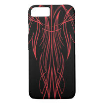 Slick Black Pinstriped iPhone 7 Case