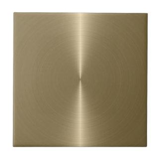 Slick Metallic Faux Gold Stainless Steel Look Tile