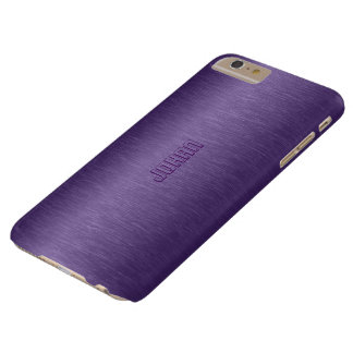Slick Metallic Purple Background Barely There iPhone 6 Plus Case