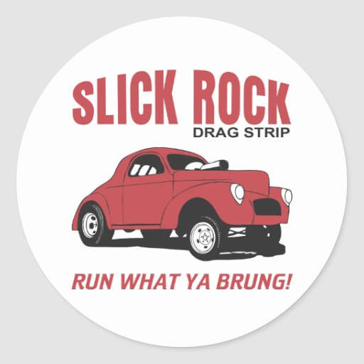 Slick Rock Drag Strip Classic Round Sticker