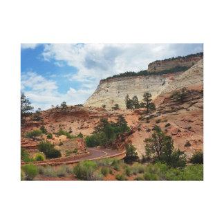 Slick Rock Zion National Park Utah Canvas Print