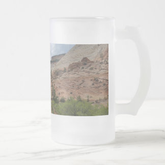 Slick Rock Zion National Park Utah Frosted Glass Beer Mug