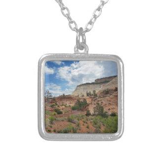 Slick Rock Zion National Park Utah Square Pendant Necklace
