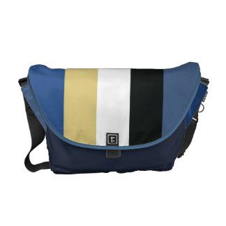 Slick Stripey Messenger Bag