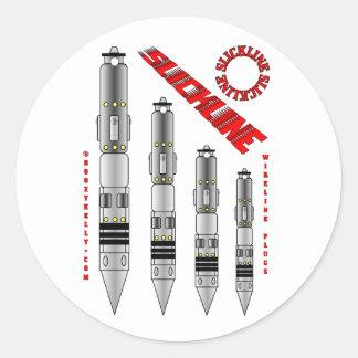 Slickline Plugs,Sticker,Wireline Plugs,Oil,Gas,Rig Classic Round Sticker