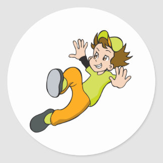 Slide Boy Classic Round Sticker