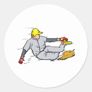 Slide Classic Round Sticker