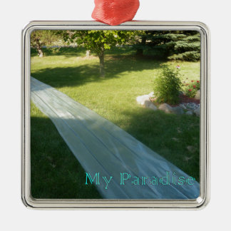 Slide Paradise Metal Ornament