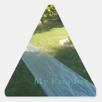 Slide Paradise Triangle Sticker